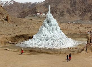 Ice Stupa Glacier, Ladakh, Inde © Sonam Wangchuk