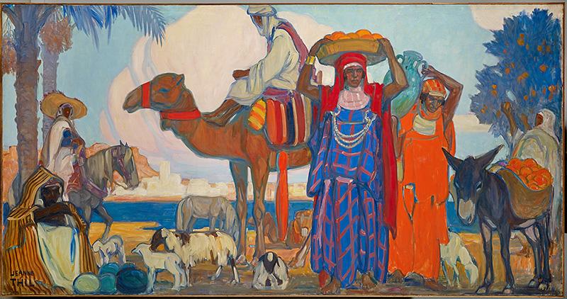 Jeanne Thil, Tunisie, 1935 Huile sur toile, 160 x 310 cm Musée du quai Branly-Jacques Chirac, Dépôt de l'artiste au musée de la France d'outre-mer, 1951, transformé en don en 2017