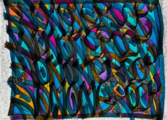 Cobb Webs - Encre sur toile, _JonOne_2019_ 187 X 146 - Repro_544 ©  Bruno Brouch