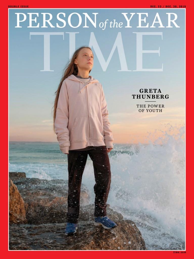 Greta Thunberg en couverture du Time en 2019