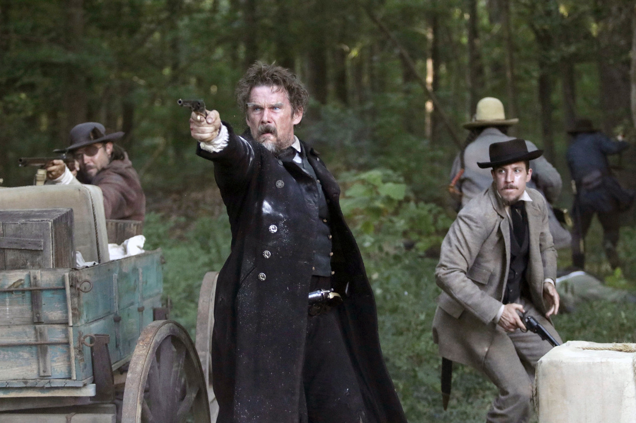 (L-R): Ethan Hawke as John Brown and Beau Knapp as Owen Brown