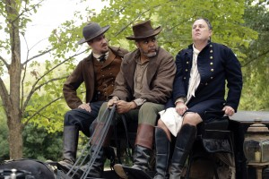 (L-R): Rafael Casal as John Cook, Victor Williams as The Coachman and Brooks Ashmanskas as Colonel Washington