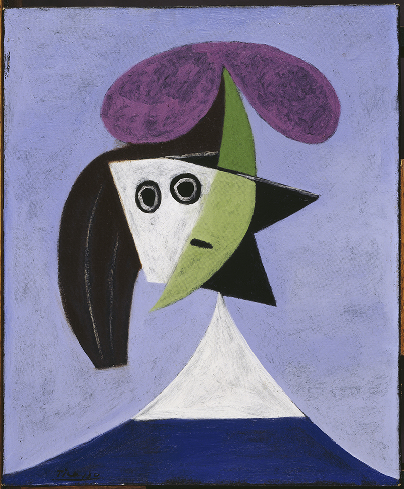 Femme au chapeau Pablo Picasso 1935 Huile sur toile 60 x 50 cm Paris, Centre Pompidou, musée national d'Art moderne © Succession Picasso 2021 © Centre Pompidou, MNAM-CCI, Dist. RMN-Grand Palais / Georges Meguerditchian